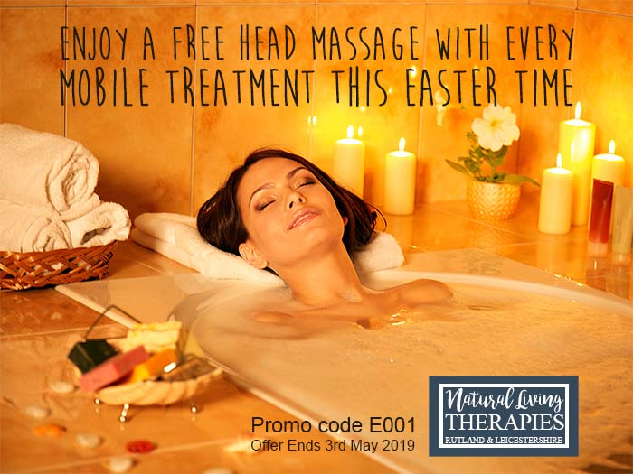 Treat yourself this Easter and enjoy a FREE Head Massage with every mobile treatment this Easter.